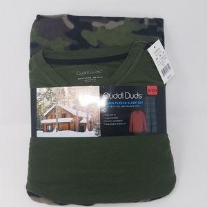 Cuddl  Duds Cabin Fleece Pajama Sleep Set Small